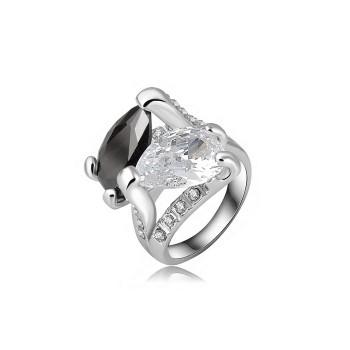 a anel duo de zirconias 1